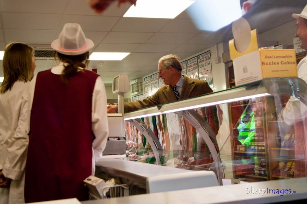 prince charles visiting tony harrisons butchers