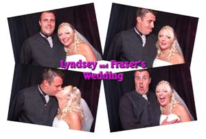 lyndsey & frasers wedding photo booth images