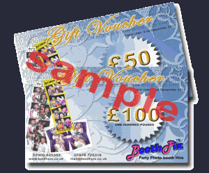 photo booth hire gift vouchers