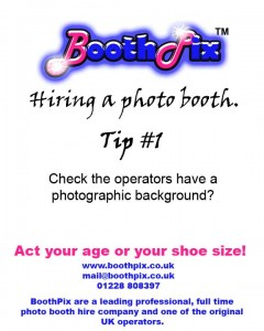 hiring a photo booth tip #1