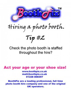 Tip#2 on hiring a photo booth