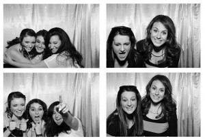 boothpix boston birthday girl in photo booth