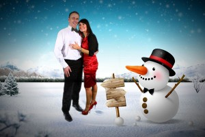 winter wonderland green screen photo