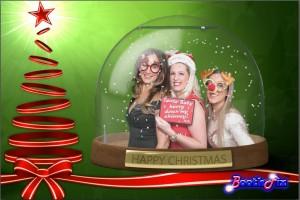 snowglobe christmas photo booth